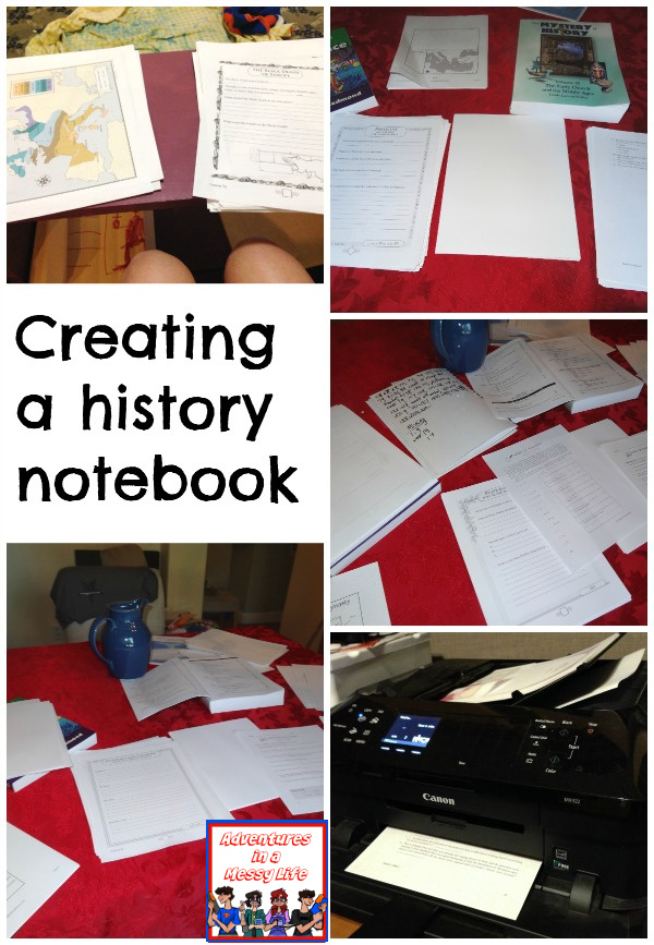 Creating a history notebook