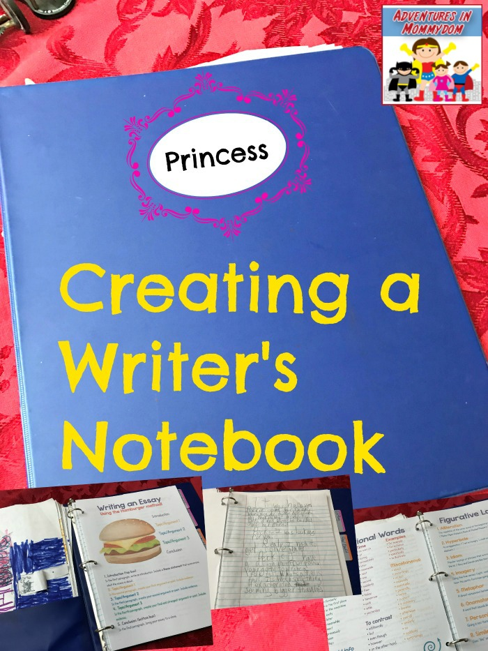 Creating a writer's notebook for your student