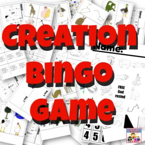 Creation Bingo printable game square