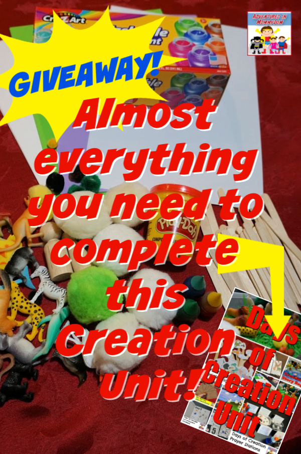 Creation Story unit supplies giveaway