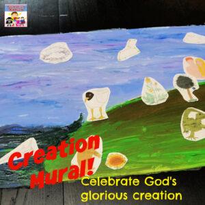 Creation mural Bible craft