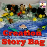 Creation story bag to take home and review the story Bible Genesis