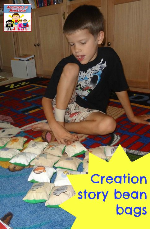 Creation story bean bags game