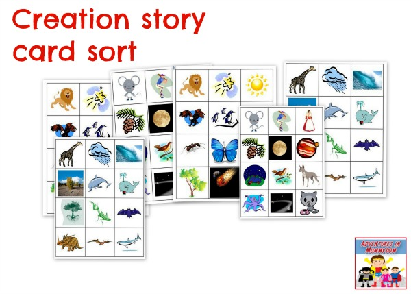 Creation story game card sort
