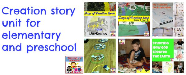 Creation story unit for elementary and preschool