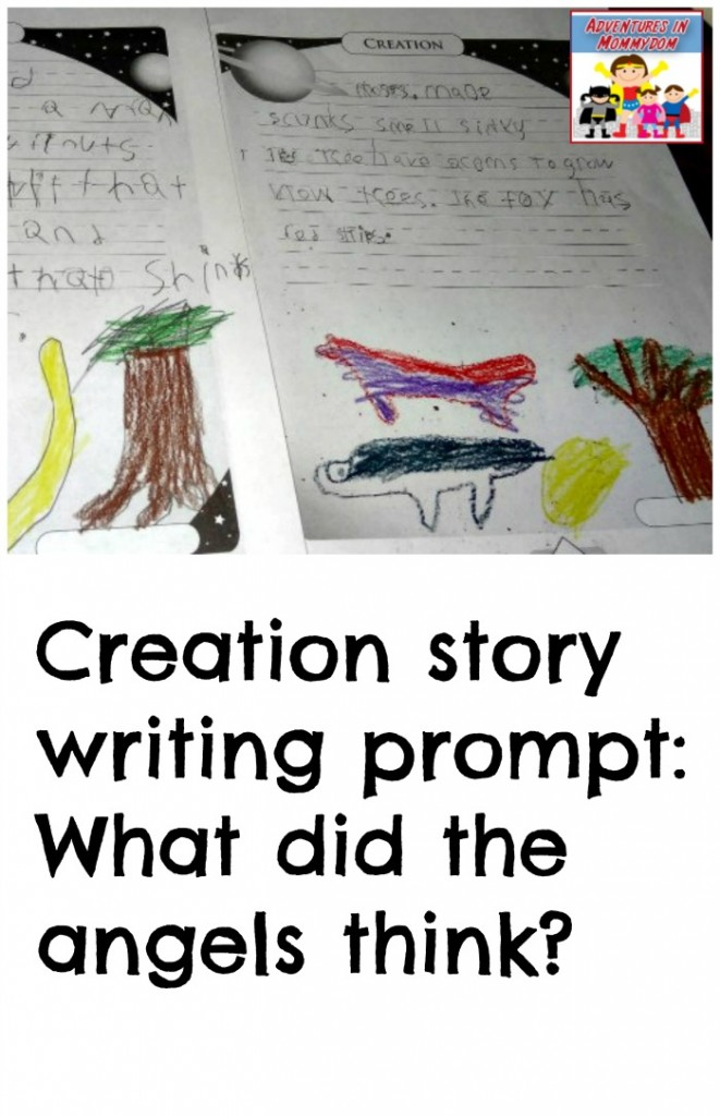 Creation story writing prompt for elementary
