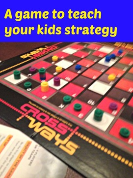 Crossways a game to teach your kids strategy