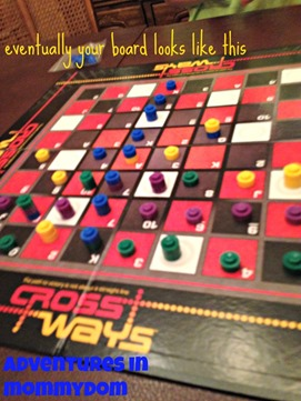 Crossways game board
