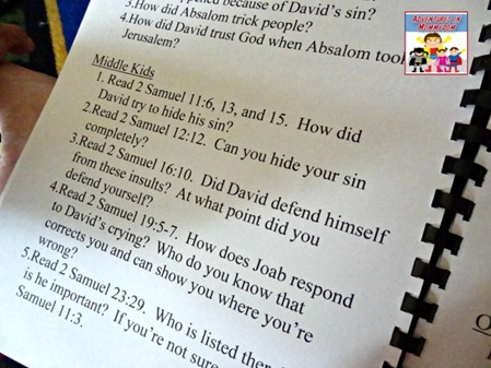 David and Bathsheba questions for kids