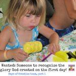 Day 1 Creation Book preschool kinder