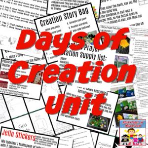 Days of Creaiton Unit for Sunday School or Children's Church