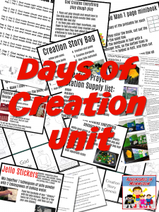 Days of Creation Unit download