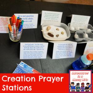 Days of Creation prayer stations Genesis Old Testament