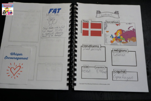 Denmark notebooking pages
