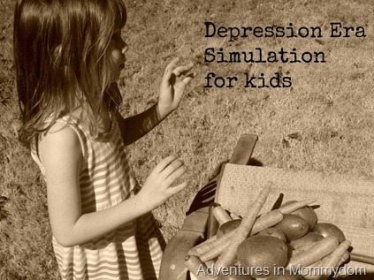Depression Era simulation for kids