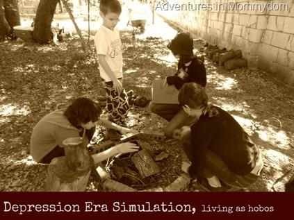 Depression Era simulation living as hobos