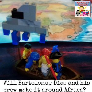 Bartolomeu Dias proves there are no sea monsters near Africa