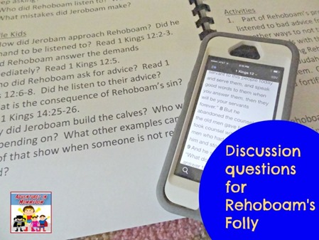 Discussion questions for Rehoboam Folly