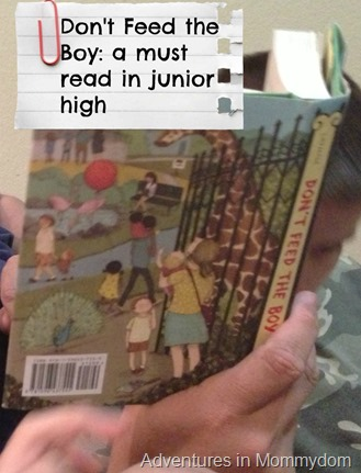 Don't Feed the Boy- a must read in junior high