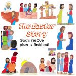 Easter Story lesson for kids part of Bible curriculum