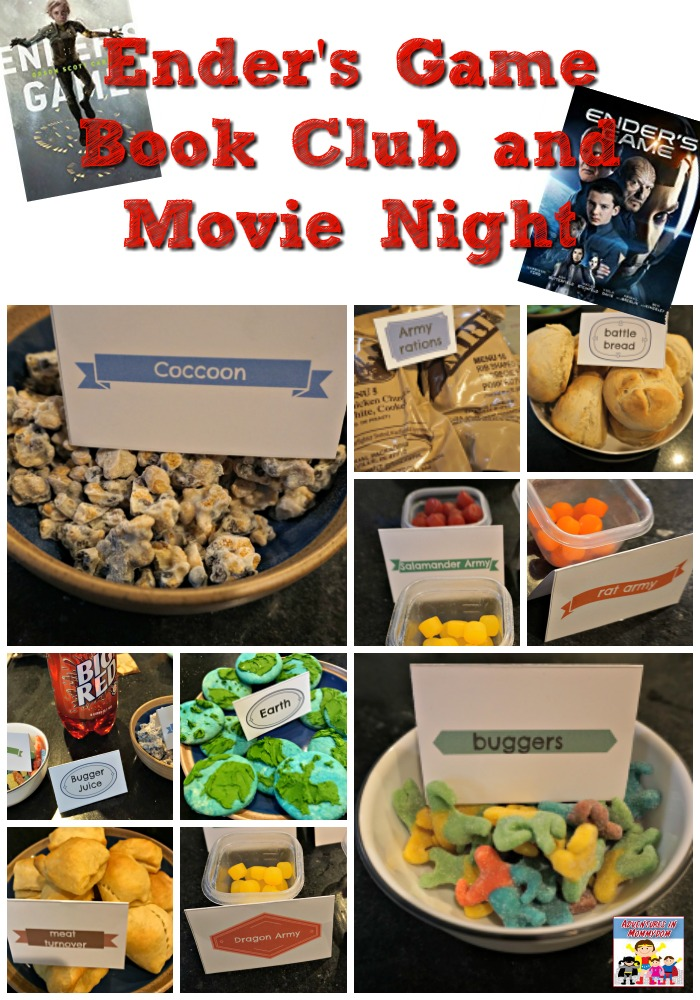 Ender's Game book club and movie night snacks