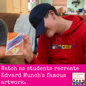 Edvard Munch THe Scream art history lesson geography 10th