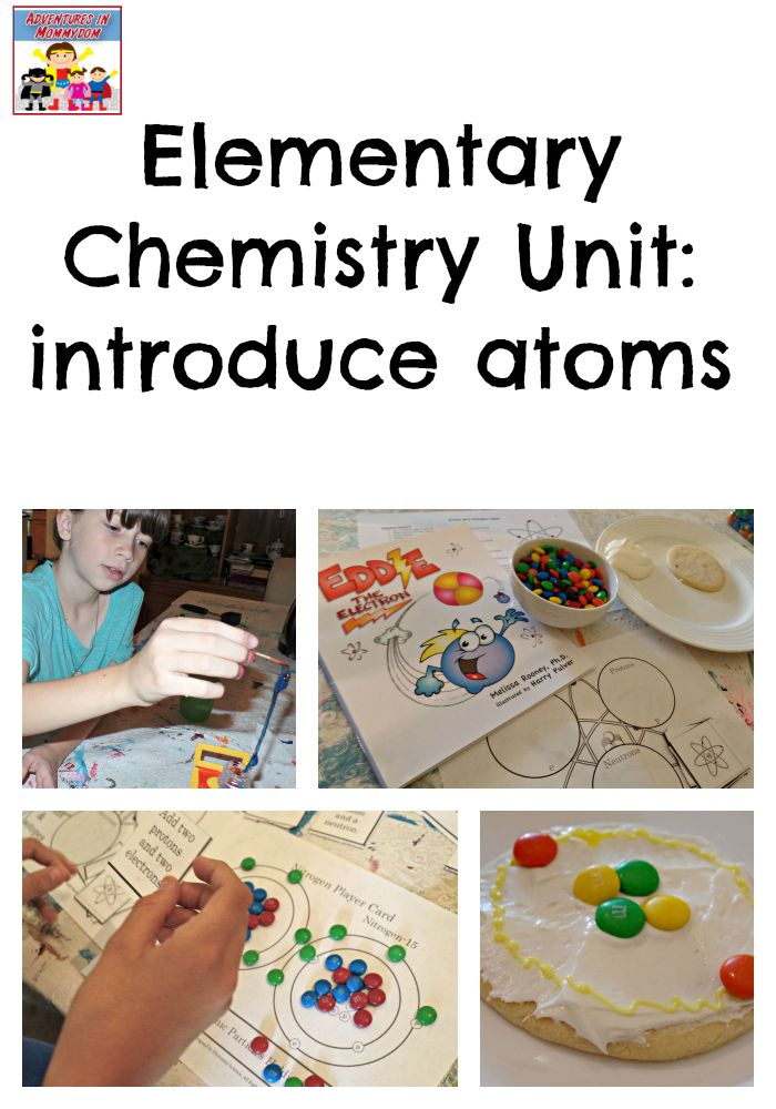 Elementary chemistry unit to introduce atoms to kids