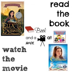 Ella Enchanted book and a movie feature