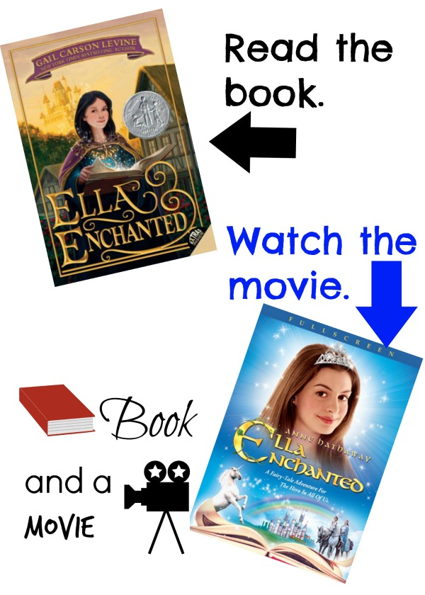 Ella Enchanted book and a movie