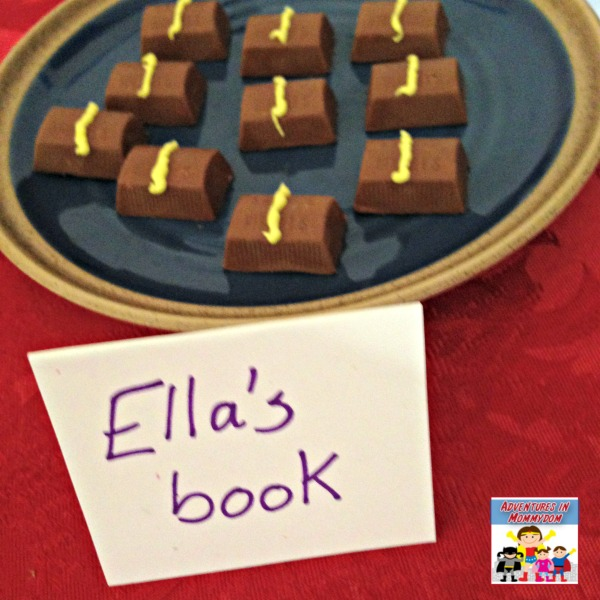 Ella Enchanted snack her book