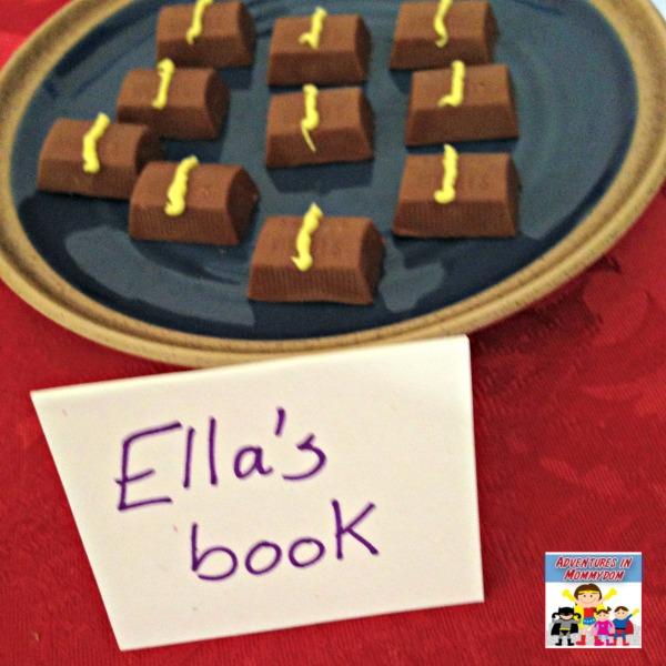 Ella Enchanted snack her book
