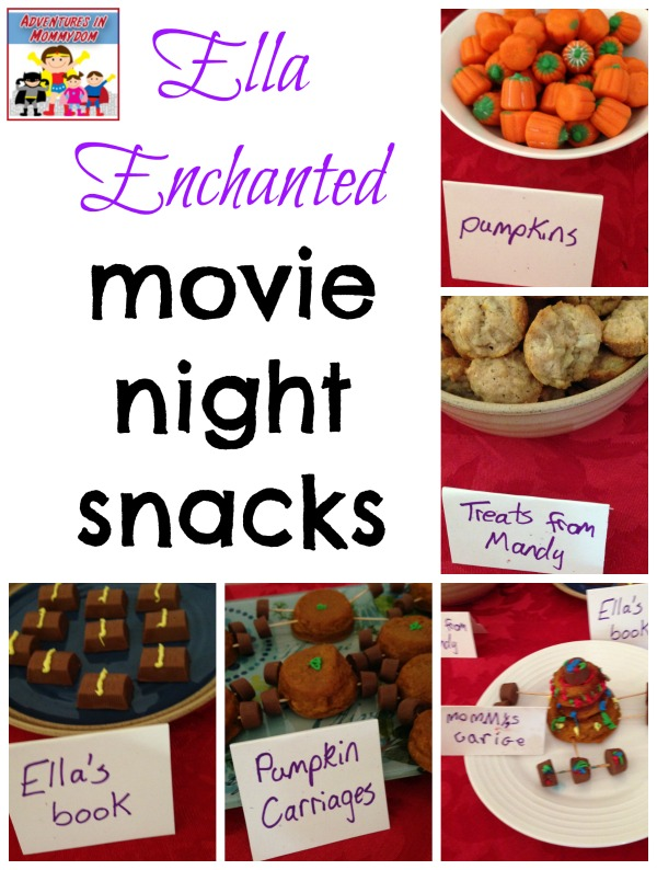 Ella Enchanted movie night snacks