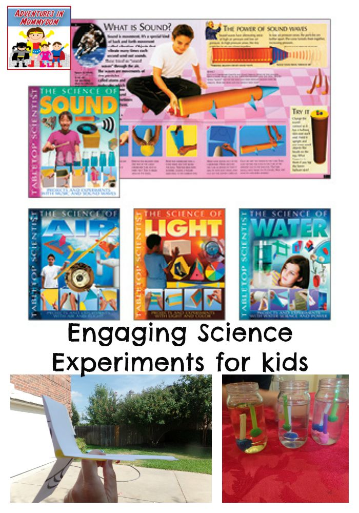 Engaging science experiments for kids, each book has several great experiments to try with your kids