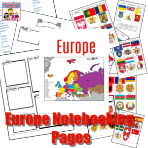 Europe notebooking pages to print for homeschool
