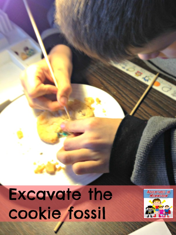 Excavate the cookie fossil dig
