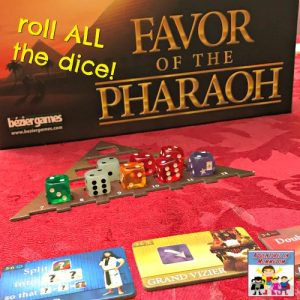 Favor of the Pharaoh roll all of the dice