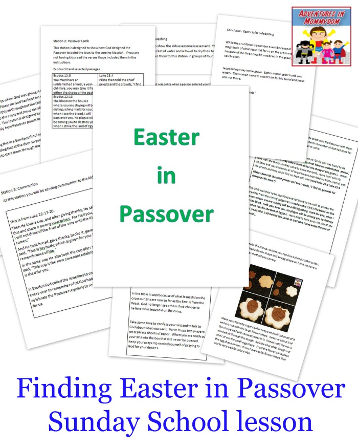 Finding Easter in Passover Sunday School lesson
