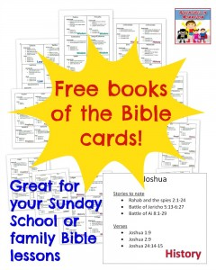 Free books of the Bible cards
