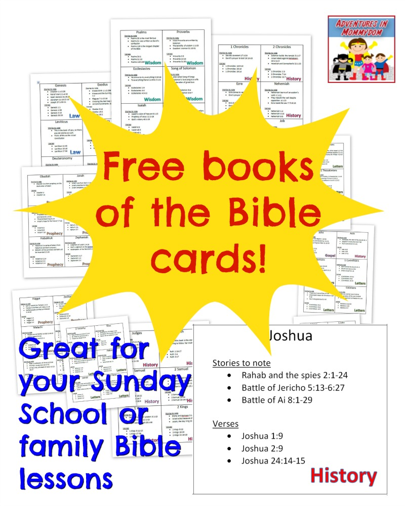graphic relating to Printable Books of the Bible named Printable textbooks of the Bible playing cards - Homeschool Giveaways