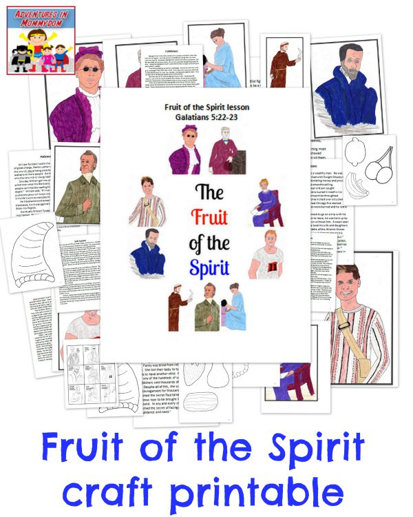 Fruit of the Spirit craft printable