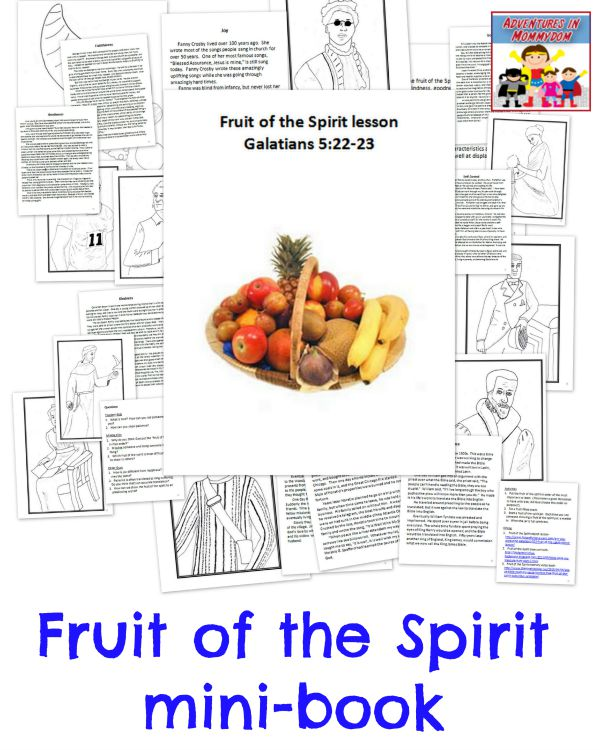 Fruit of the Spirit mini-book