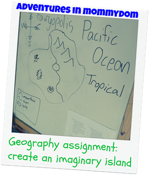 Geography assignment create an imaginary island