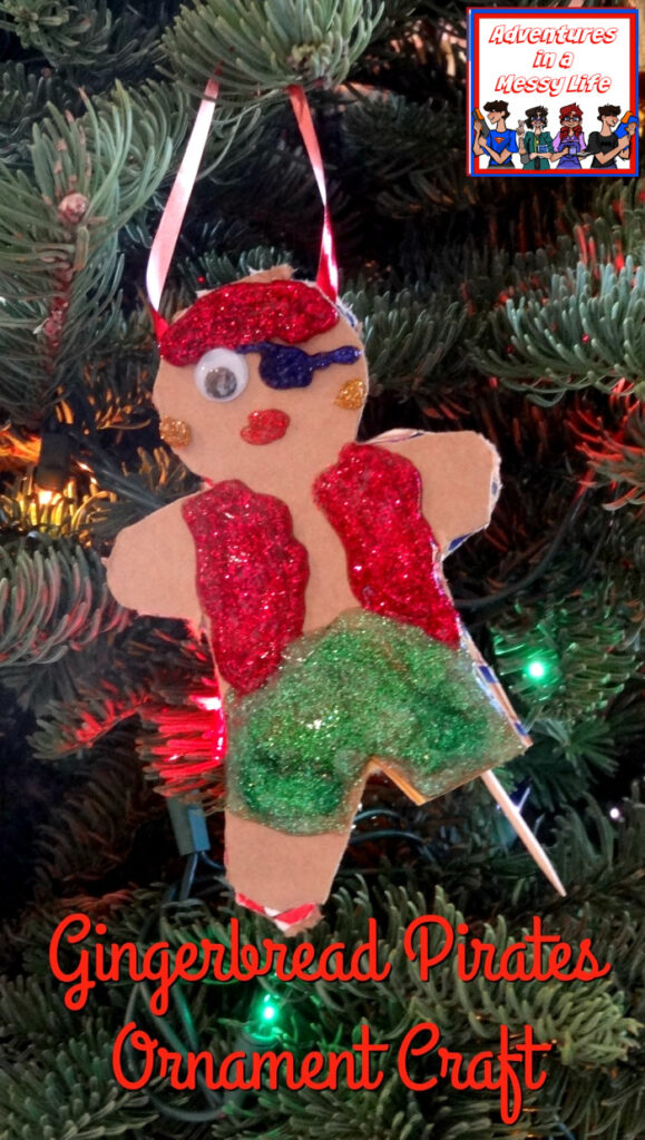 Gingerbread Pirates ornament craft