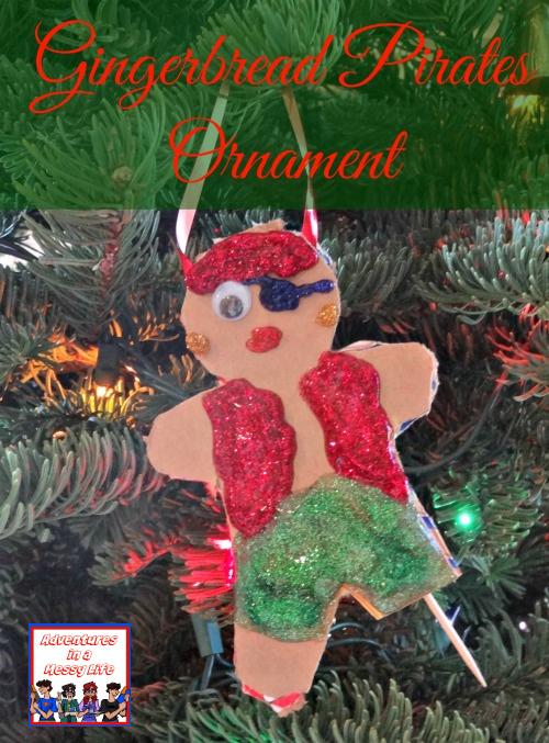 Gingerbread pirates ornament