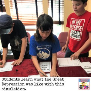 Great Depression dice simulation