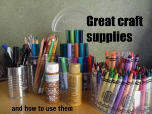 Great Craft Supplies and what you use them for