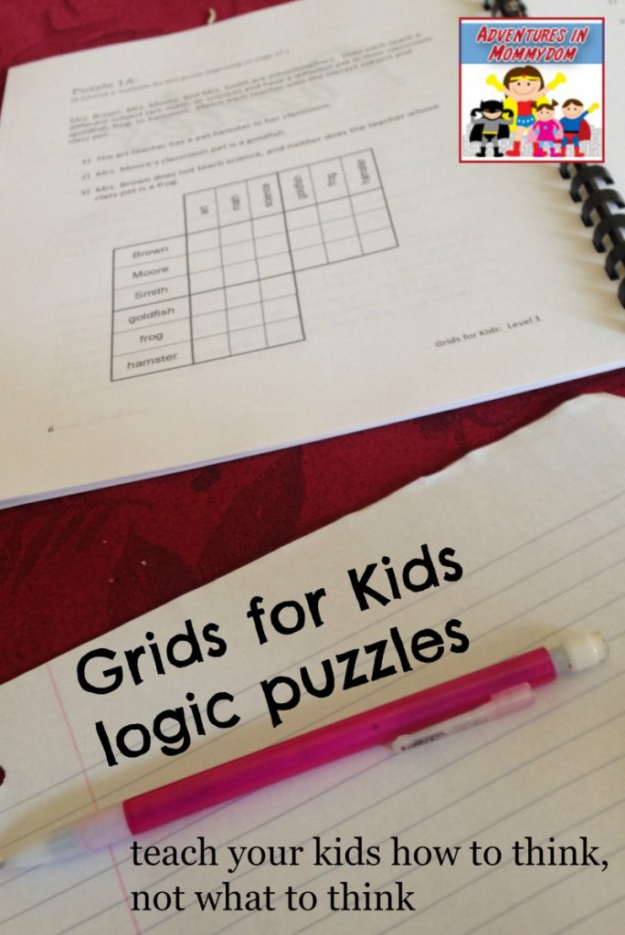 Grids for kids logic puzzles