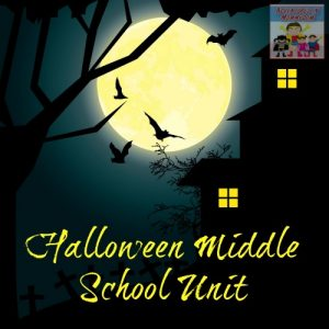 Halloween Middle School Unit freebies