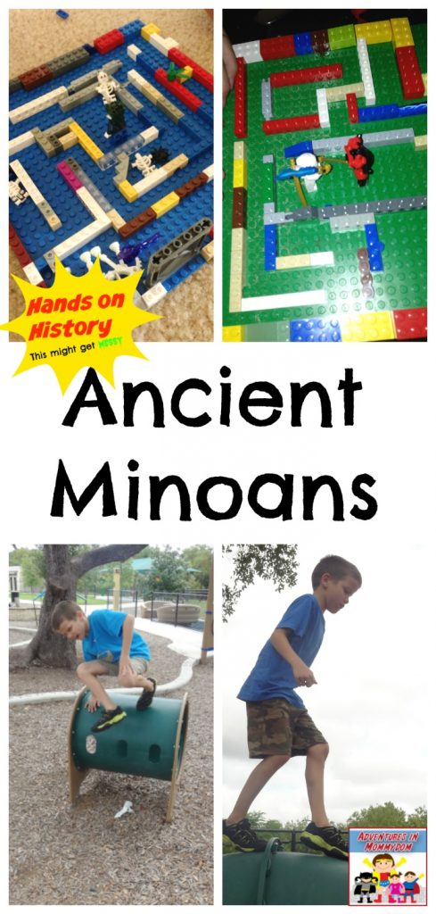 Hands on Minoan unit ancient history at Adventures in Mommydom