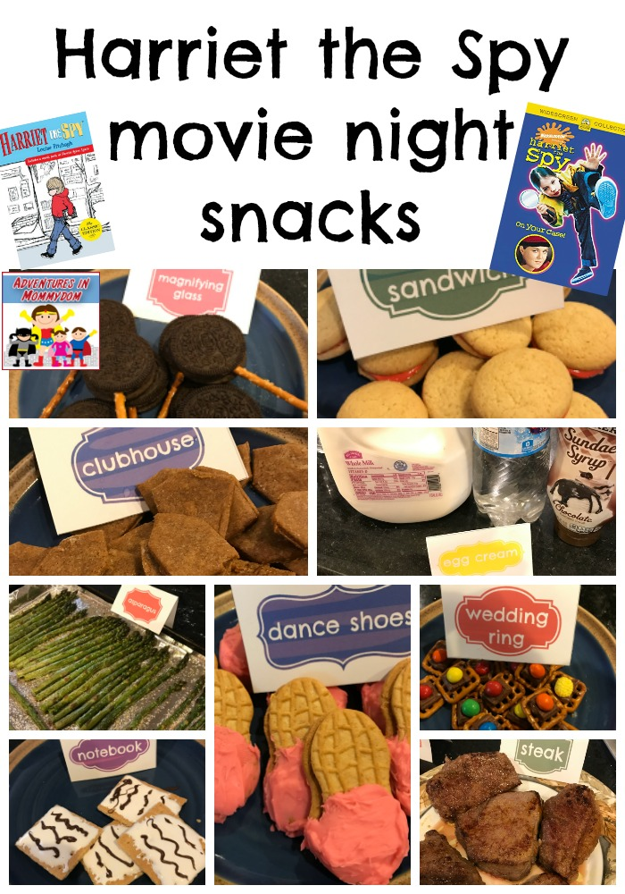Harriet the Spy movie night snacks
